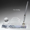 Optic Crystal Pen Set with Business Card Holder