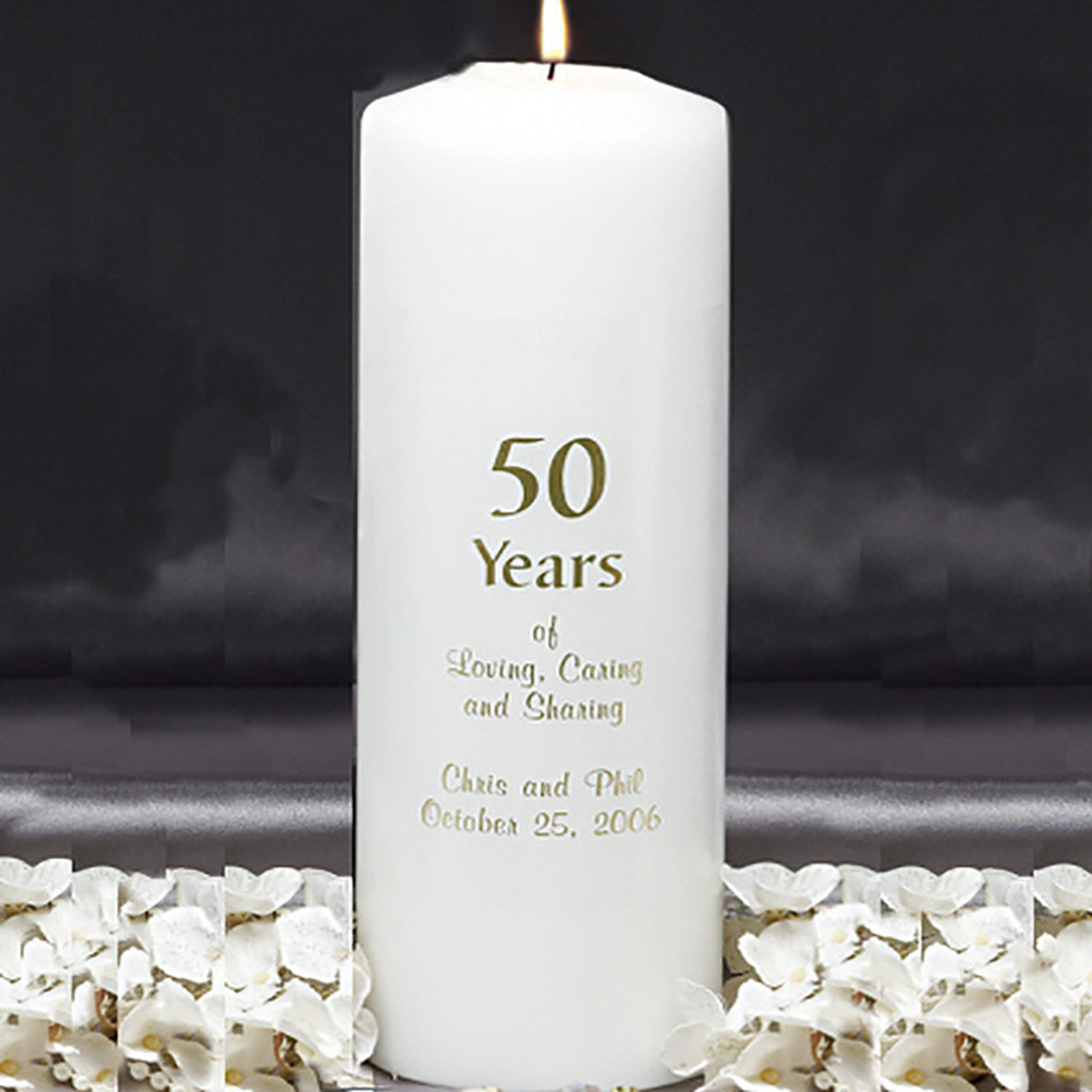 custom candles anniversary 50 years personalized candles glass
