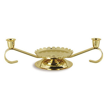 CANDLE HOLDER - gold tone