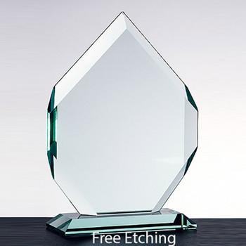 "Crown Jewel Glass Award  3/4"" Thick"
