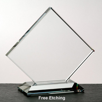 Crystal Clear Clipped Square Award