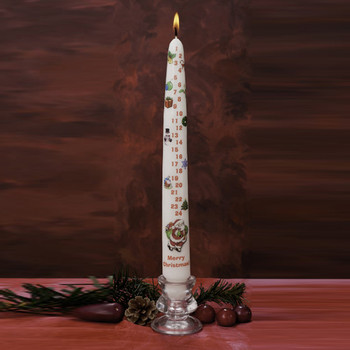 Countdown to Christmas Advent Candle
