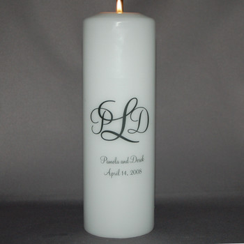 Monogrammed Unity Candle