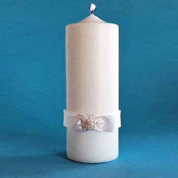 Unity Candle with Satin Bow