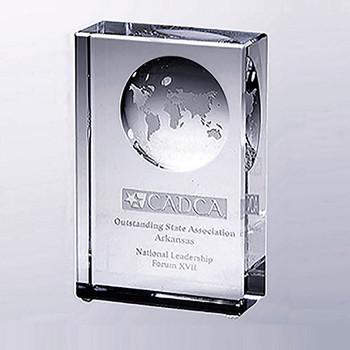 Beveled Globe Award