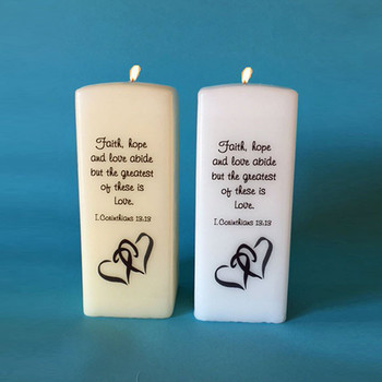 Square Candles with Verse
