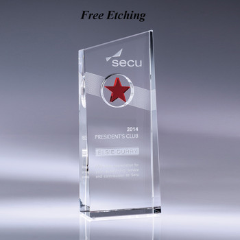 Nebula Crystal Award with Red Accent