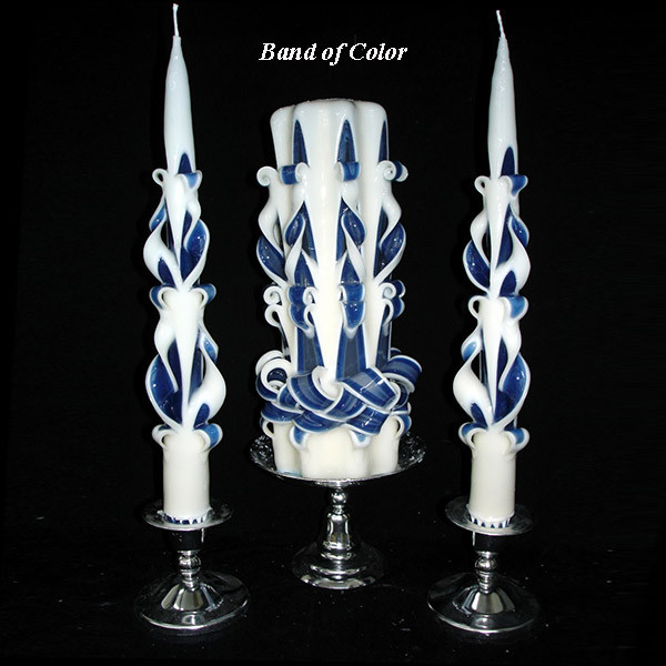Elegance Star Unity Candle with Color