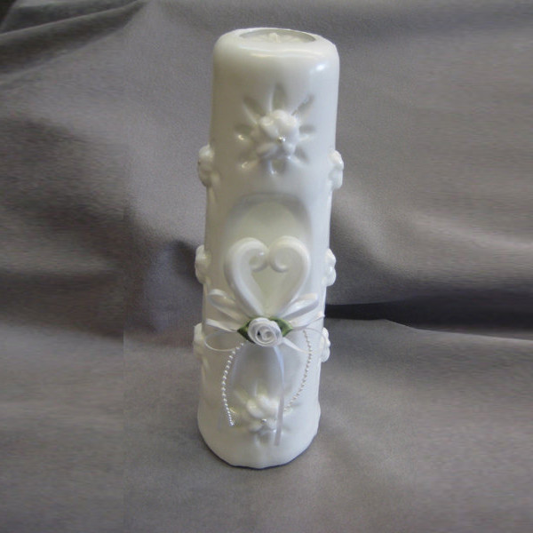 Hand Carved Sculpted Unity Candle