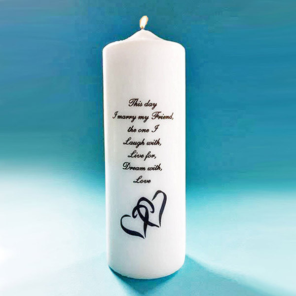 Double Heart Unity Candle