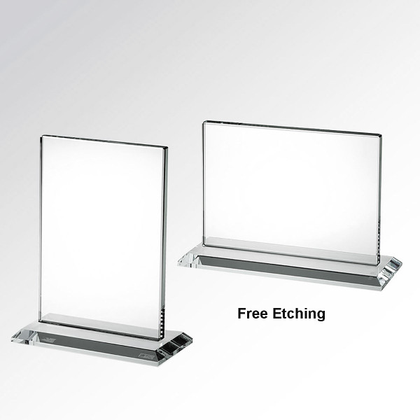 Horizontal or Vertical Rectangle Glass Award