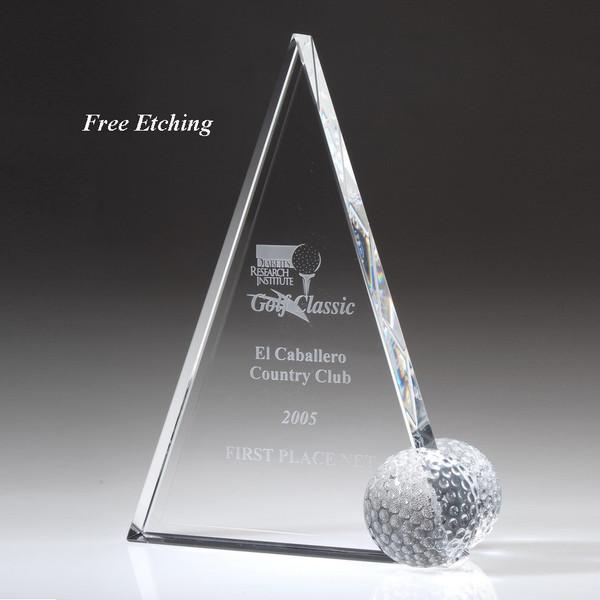 Crystal Peak Golf Trophy