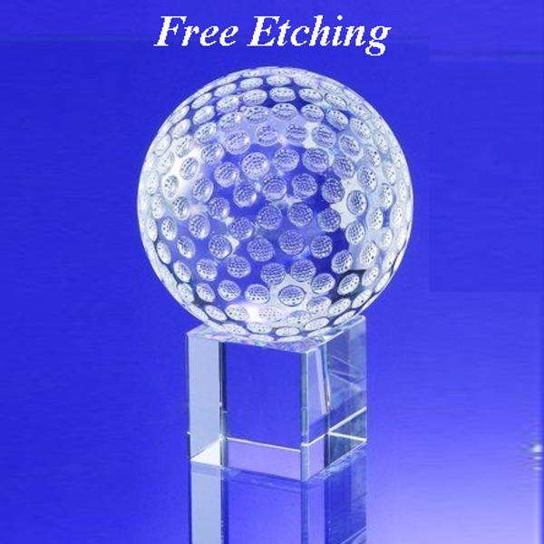 Crystal Golf Ball on Base