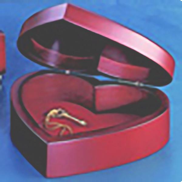 Wood Heart Jewelry Box