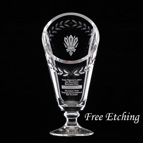 Engraved Crystal Laurel Cup