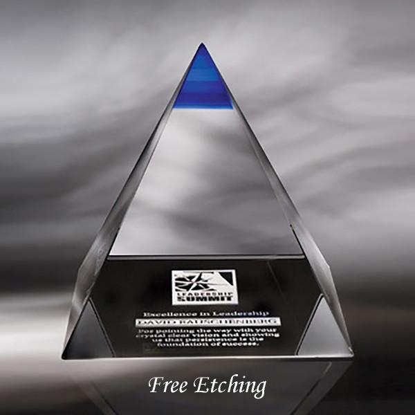 Crystal Blue Majestic Pyramid