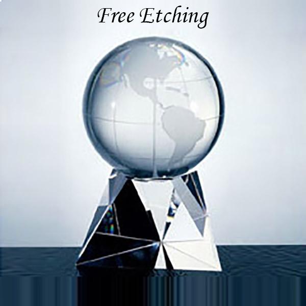 Crystal Latitude Globe on Base
