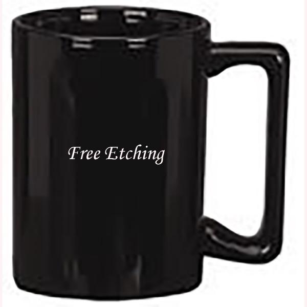 Black Ceramic Maui Mug