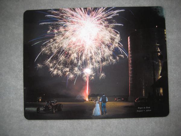 Wedding Couple Celebrating with Fireworks Just an example of what can be done. Use your own Photo!