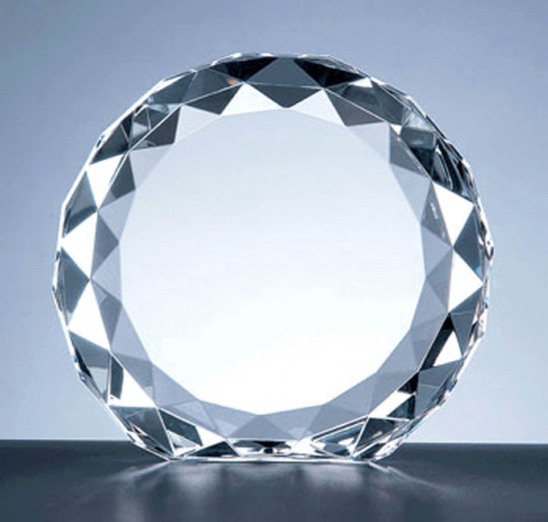 Crystal Beveled Circle Award