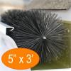 """Gutter Brush Gutter Guard 5"""" 3' Length from GutterBrush"""