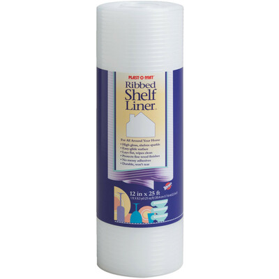 "Warp's Plast-O-Mat Heavy Weight Ribbed Plastic Shelf Liner Bulk Roll, 30"" x 50'"