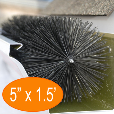 "Gutter Brush Gutter Guard 5"" 18"" Length from GutterBrush"