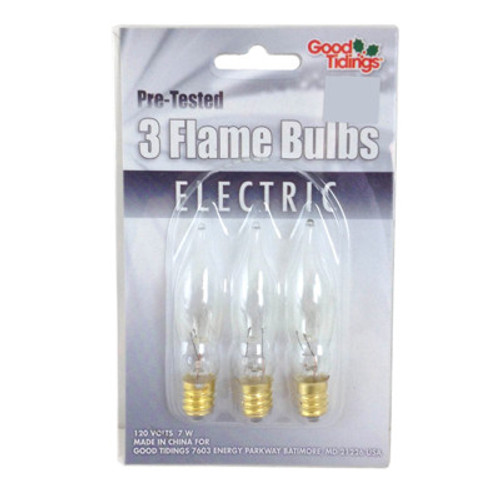 Clear Flame bulbs