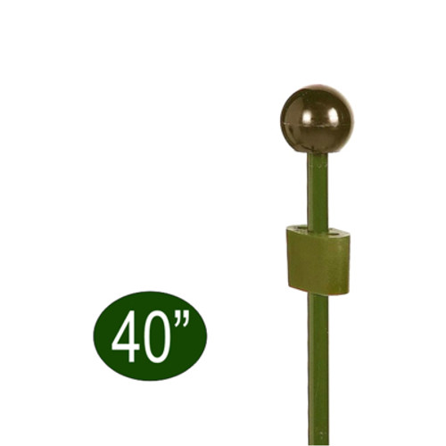 Peacock Garden Plant Stake with Adjustable Coupler 40""