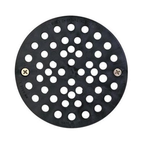 "Black Plastic Replacement Floor Strainer 6-3/4"""