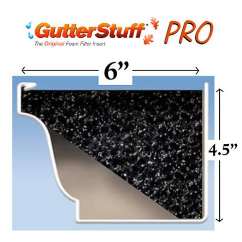 """GutterStuff PRO 6"""" Gutter Guard 32' Pack"""