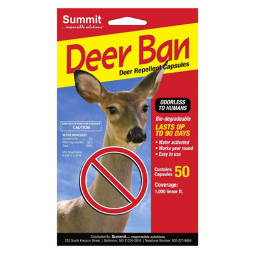 Summit Deer Ban - 50 Pack Deer Repellent Capsules