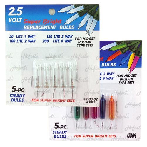 2.5V Mini Replacement Bulbs