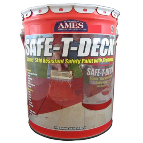 Ames SAFE-T-DECK Elastic Skid Resistant Paint with Granules 5-Gallon