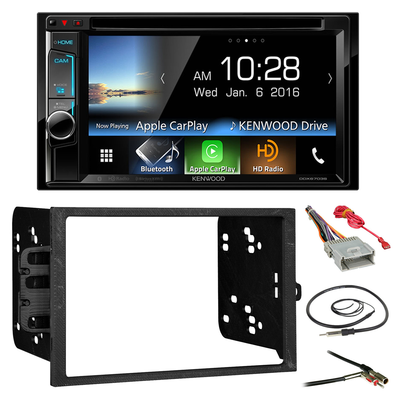 Kenwood Ddx6703s 62 Double Din Cd Dvd Bluetooth Car Stereo Metra Wire Harness Receiver Bundle Combo With