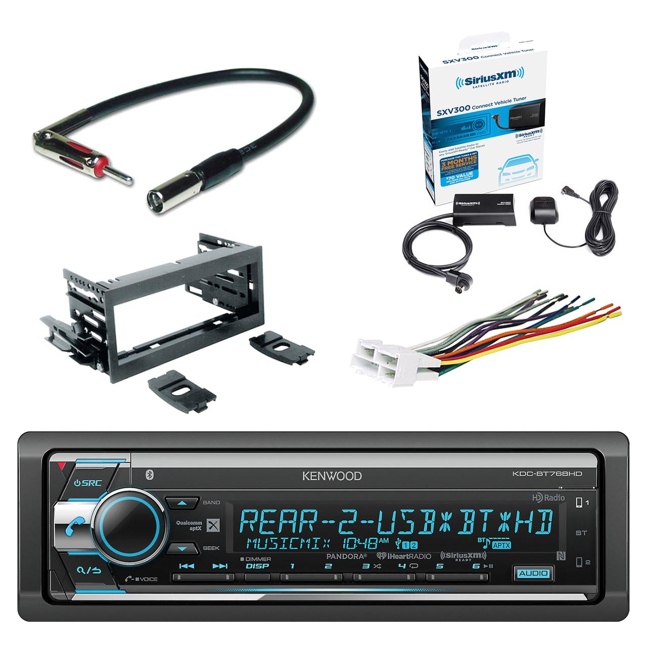 Kenwood Single Din CD/AM/FM Car Audio Receiver with Bluetooth SiriusXM  Satellite Radio Vehicle Tuner Kit, Scosche Dash Kit, Scosche GM Micro/Delco  Antenna ...