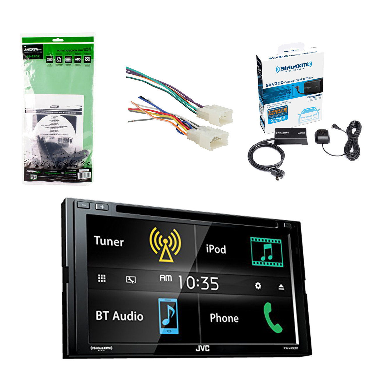 Satellite Radio Wire Harness Automotive Wiring Diagrams Jvc Chevy 6 8 Inch Lcd Touchscreen 2 Din Bluetooth Car Stereo Receiver W