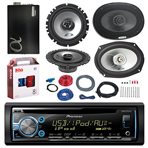 Pioneer Deh X3700ui Cd Mp3 Aux Car Stereo Receiver Player Bundle 2