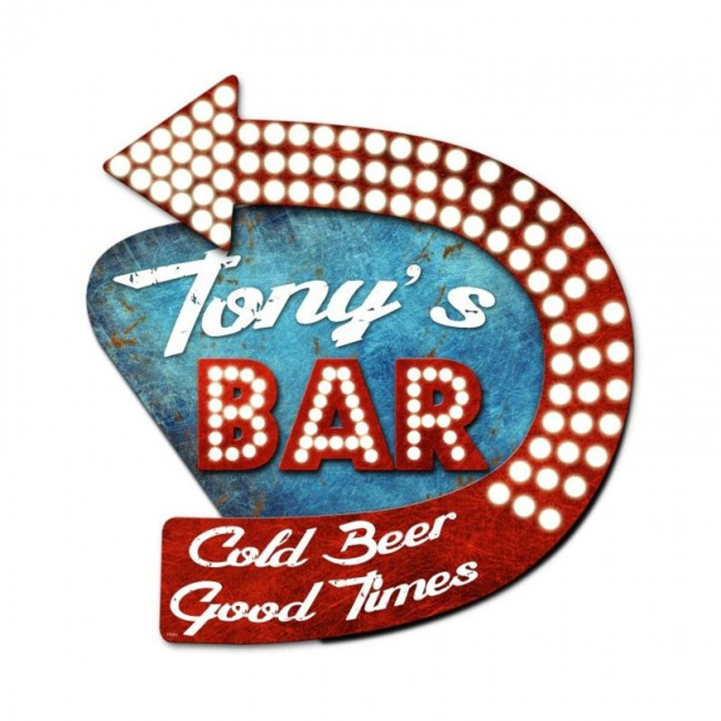Bar 3-D Metal Sign - Personalized 20 x 24 Inches