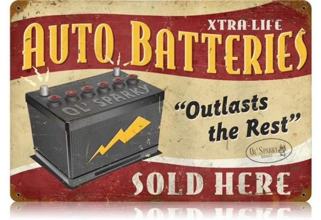 Vintage-Retro Auto Batteries Metal-Tin Sign