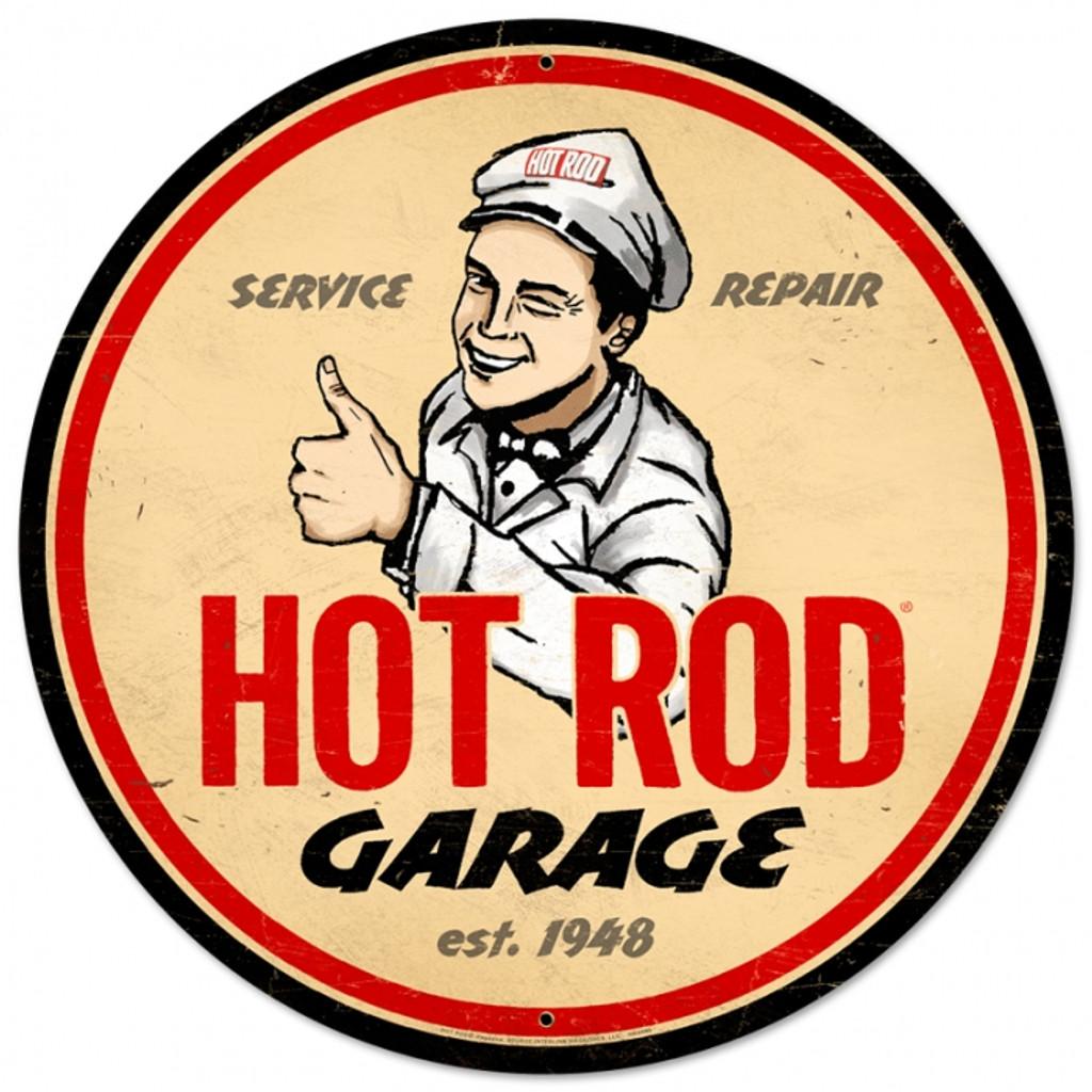 Retro Hot Rod Magazine Garage Tin Sign
