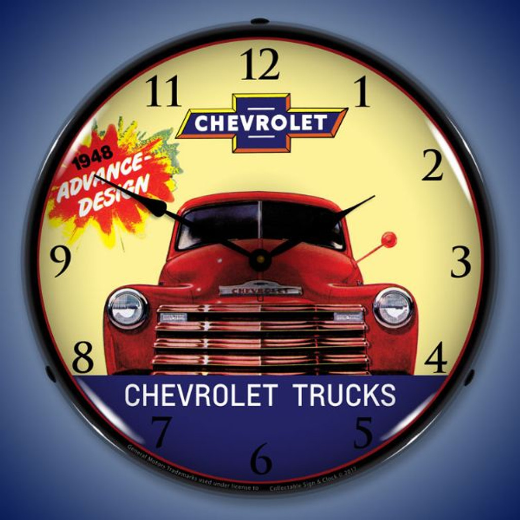 1948 Chevrolet Truck Lighted Wall Clock 14 x 14 Inches
