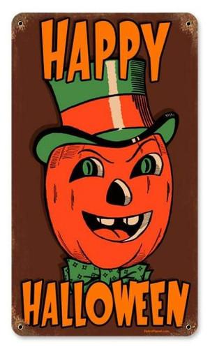 Vintage-Retro Halloween Pumpkin Metal-Tin Sign