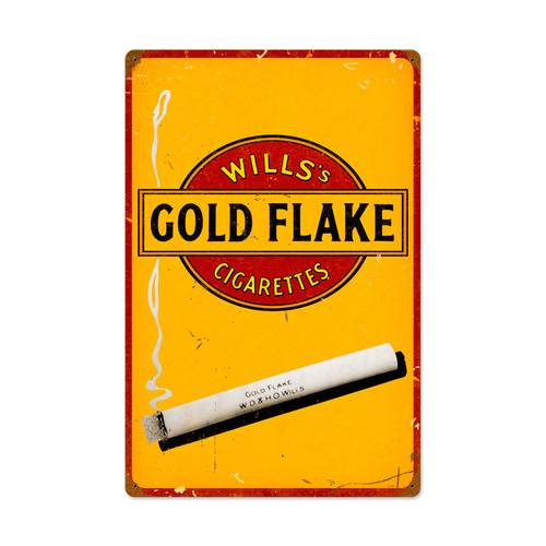 Gold Flake Cigarettes Metal Sign 24 x 16 Inches