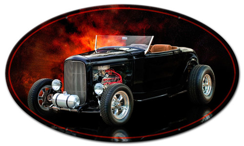 High Boy Roadster Oval Metal Sign 24 x 14 Inches