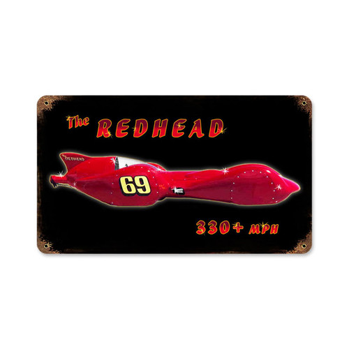 Redhead Metal Sign 14 x 8 Inches