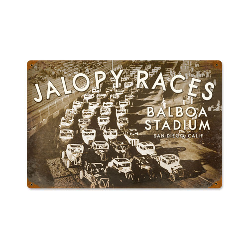 Jalopy Metal Sign 18 x 12 Inches