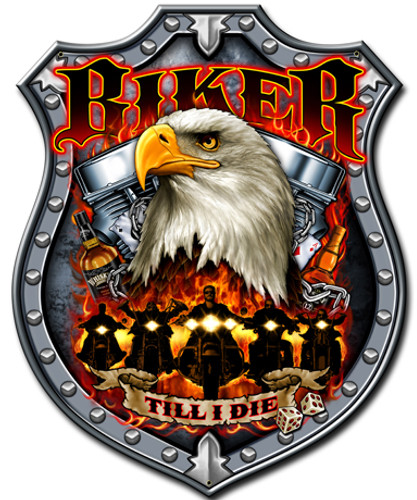 Biker Till I Die Metal Sign 14 x 18 Inches
