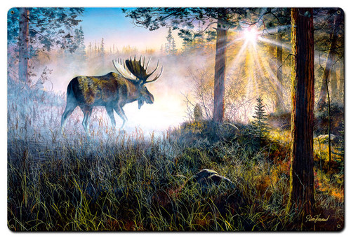 Walk In The Mist Metal Sign 24 x 36 Inches