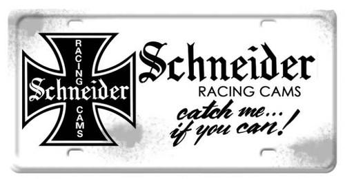 Vintage Schneider License Plate 12 x 6 Inches